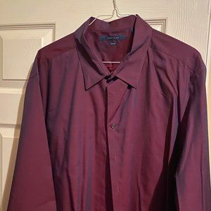 Perry Ellis (iridescent) Wine Colored Button Down